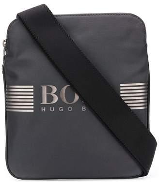 HUGO BOSS rubberized logo messenger bag