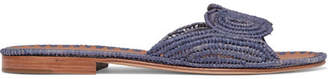 Carrie Forbes - Naima Woven Raffia Slides - Purple