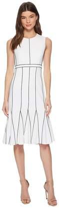 Calvin Klein Piping Fit Flare Dress CD8C16HP Women's Dress