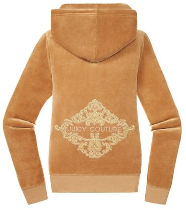 Juicy Couture Relaxed Jacket in Rhinestone Velour