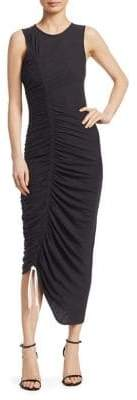 Cinq à Sept Cora Ruched Cotton Jersey Dress