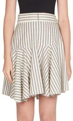 Loewe Striped Poplin Flounce Skirt