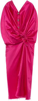Marni Cotton-Blend Tie-Front Cocoon Dress Size: 36