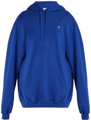 VETEMENTS Euro-print oversized cotton-blend sweatshirt $780 thestylecure.com
