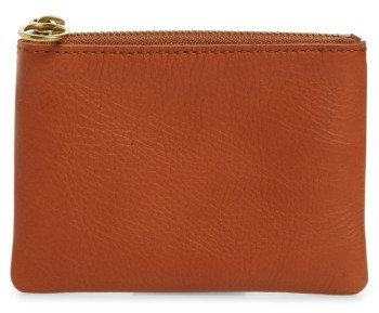 Madewell Small Victory Leather Pouch - Brown