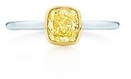 Tiffany & Co. Bezet yellow diamond ring