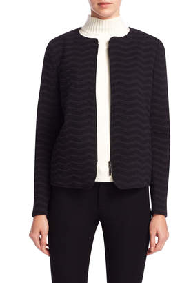 Armani Collezioni Women's Split Crewneck Jacket