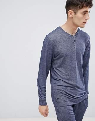 Lacoste Luxury Long Sleeve Top in Regular Fit