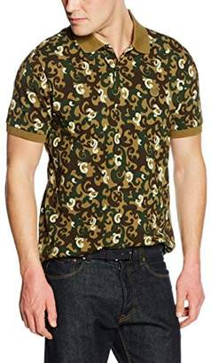 2fc8f164bd6397 at Amazon.co.uk · Pretty Green Pretty Men's Riley Camo Short Sleeve Polo  Shirt
