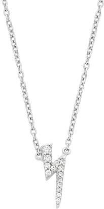 Lightning Bolt Boston Bay Diamonds 14k White Gold Diamond Accent Pendant Necklace