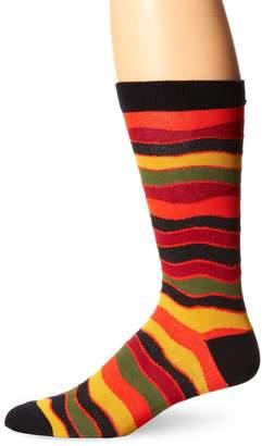 Ozone Men's Wavy Stripes Sock