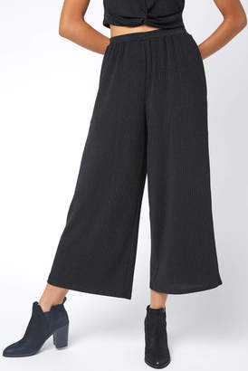 MinkPink Metallic Stripe Wide Leg Pant