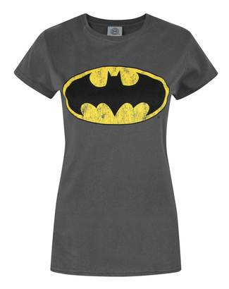 06214e9e Official DC Comics Superheroes Women's T-Shirt (Superman Batman Wonder Woman  Flash)