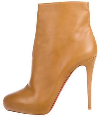 Christian Louboutin Square-Toe Platform Ankle Boots