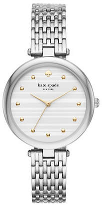 Kate Spade Three-Hand Varick Silvertone Watch