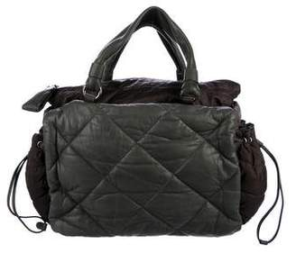 Moncler Quilted Leather Puffer Satchel