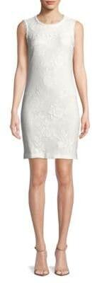 Lace Cotton Sheath Dress