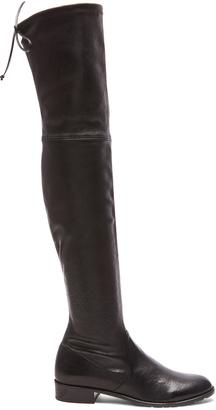 Stuart Weitzman Stretch Leather & Neoprene Lowland Boots $798 thestylecure.com