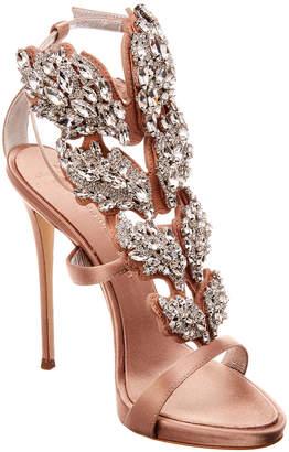 Giuseppe Zanotti Cruel Crystal Winged Satin Sandal