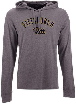 '47 Men's Pittsburgh Panthers Long Sleeve Focus Hooded T-Shirt