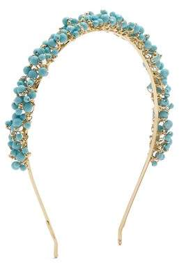 Rosantica By Michela Panero - Bouquet Bead Embellished Headband - Womens - Blue