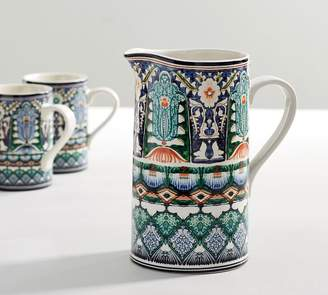 Pottery Barn Mezze Pitcher - Blue
