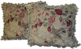 One Kings Lane Vintage Needlepoint Pillows - Set of 2 - Mary Jane McCarty Design