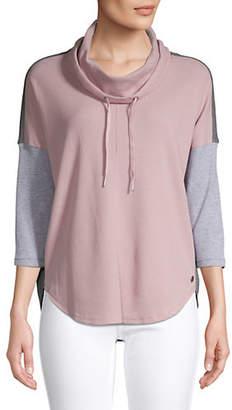 Calvin Klein Cowl Neck Thermal Pullover