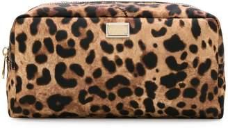 Dolce & Gabbana leopard print make-up bag