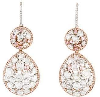 18K Diamond Convertible Drop Earrings