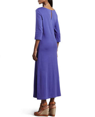Joan Vass Interlock Easy Maxi Dress, Petite