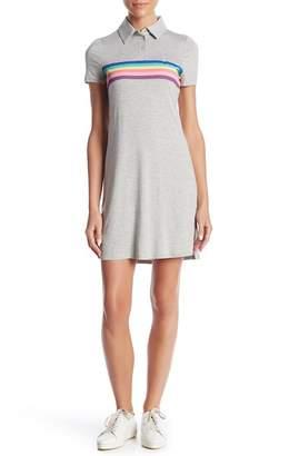 Love, Fire Rainbow Short Sleeve Polo Dress