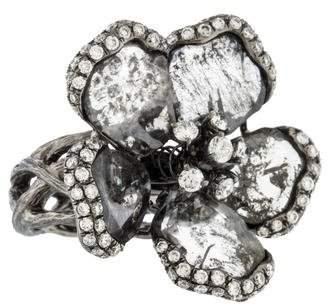 Ring 18K Diamond Flower
