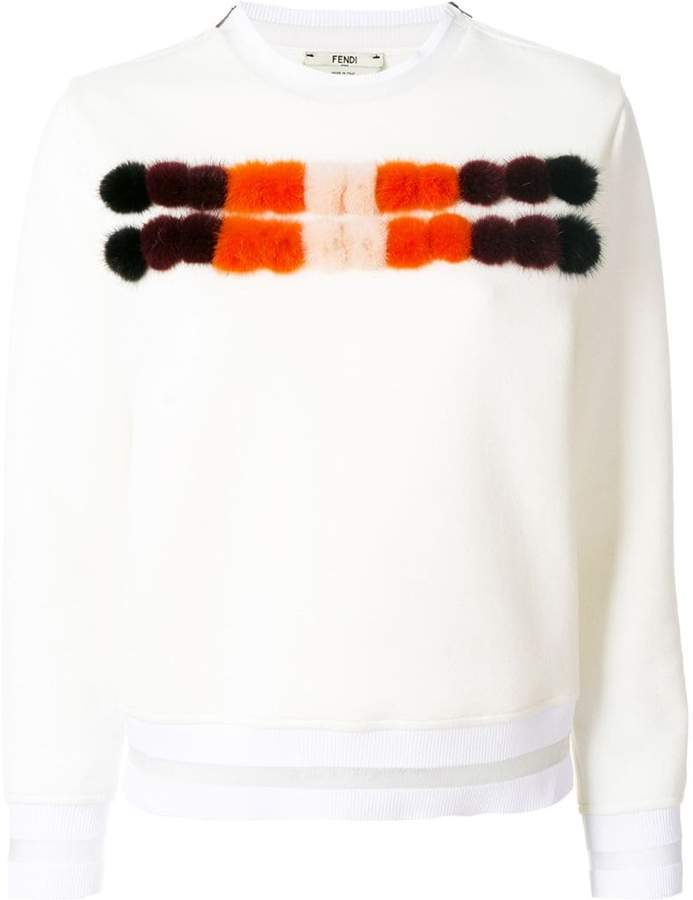 Fendi mink fur panel sweater