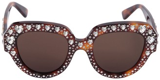 Gucci Square Sunglasses W/ Heart Crystals