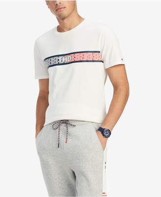 d1cf5e39b Tommy Hilfiger Men Tiemann Logo Stripe Graphic T-Shirt