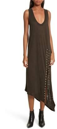 IRO Karossi Asymmetrical Linen Tank Dress