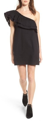 Women's Sincerely Jules Everly One-Shoulder Cotton Dress $115 thestylecure.com