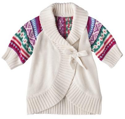 Osh Kosh Genuine Kids from OshKosh TM Infant Toddler Girls' Wrap Sweater - Polar Bear