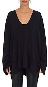 The Row Women's Lesli Silk-Cotton Oversized Sweater-Navy