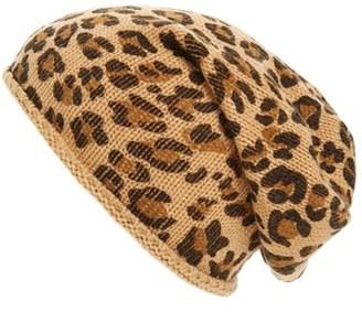 Women's Bp. Leopard Print Slouchy Beanie - Brown $15 thestylecure.com