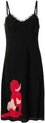 Moschino pin-up detail slip dress