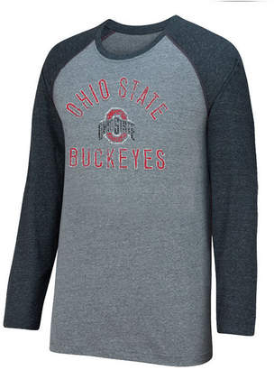 Top of the World Men Ohio State Buckeyes Triple A Raglan T-Shirt