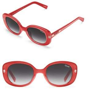 Quay Mini 139MM Oval Sunglasses