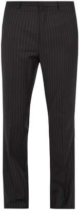 Lanvin Straight-leg striped wool trousers
