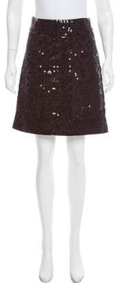 Tory Burch Sequined A-Line Skirt