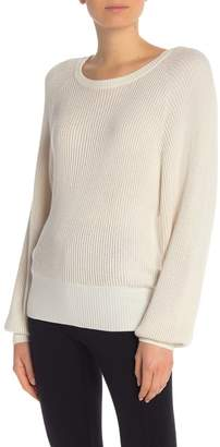 Splendid Metallic Lurex Long Sleeve Pullover