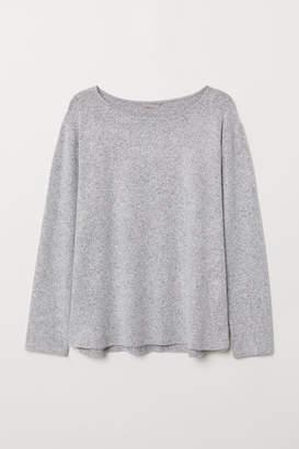 H&M H&M+ Jacquard-patterned Top - Gray