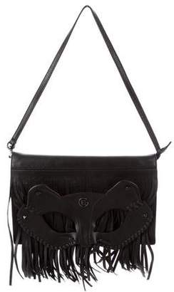 Elena Ghisellini Cat Mask Fringed Bag