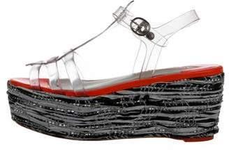 Sophia Webster PVC Flatform Sandals